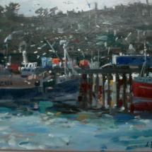 'Newlyn Winter' oil on canvas board 38 x 30 cm £400