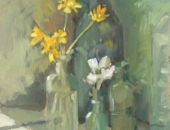 Celandine and Ranunculus, Flowers, Lizzie Black