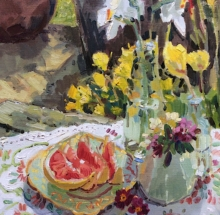 Grapefruit and Flowers Lizzie Black