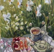 Tea Break with Pheasants Eye Lizzie Black